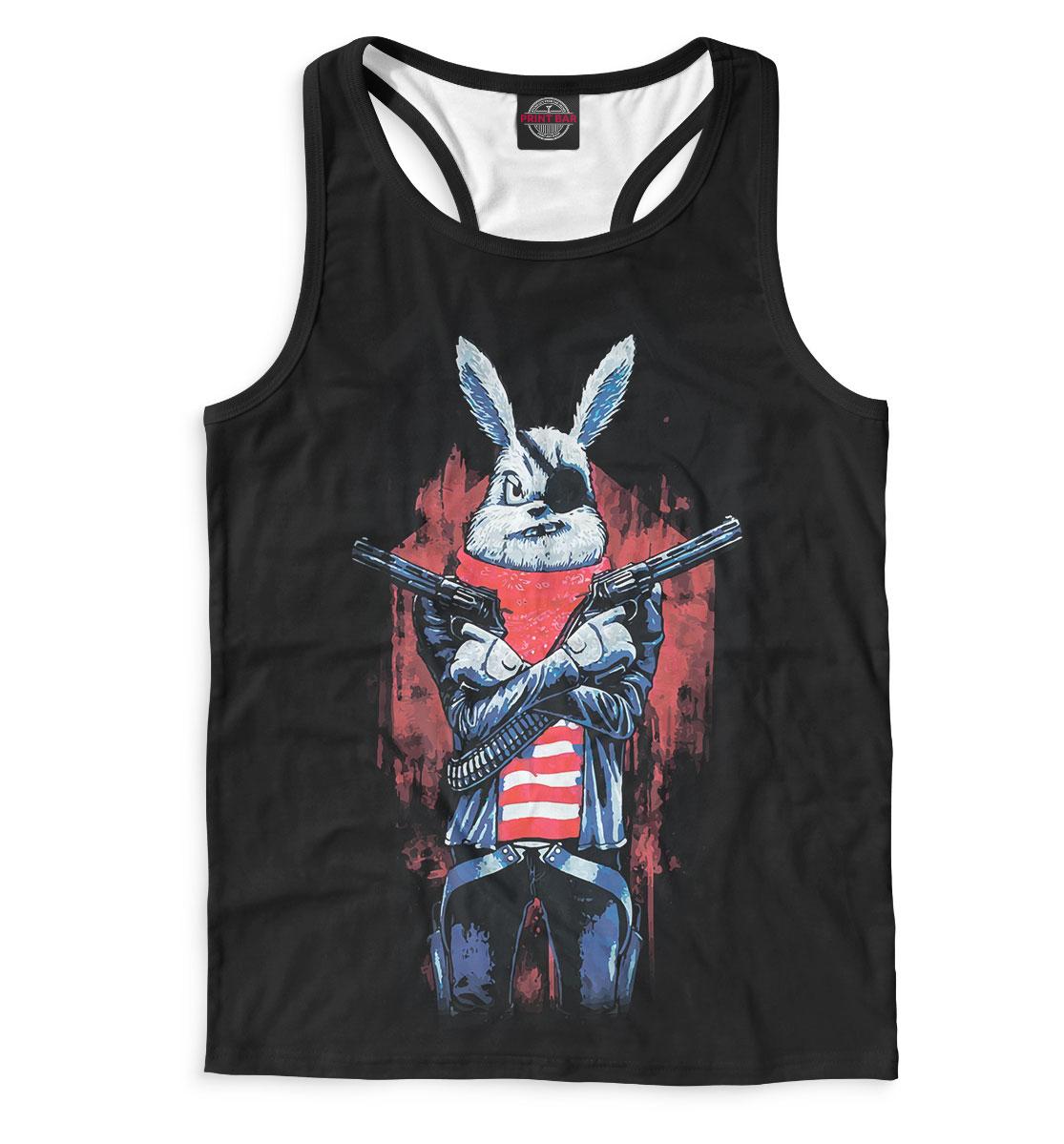 Майка борцовка мужская Кролик с пистолетом