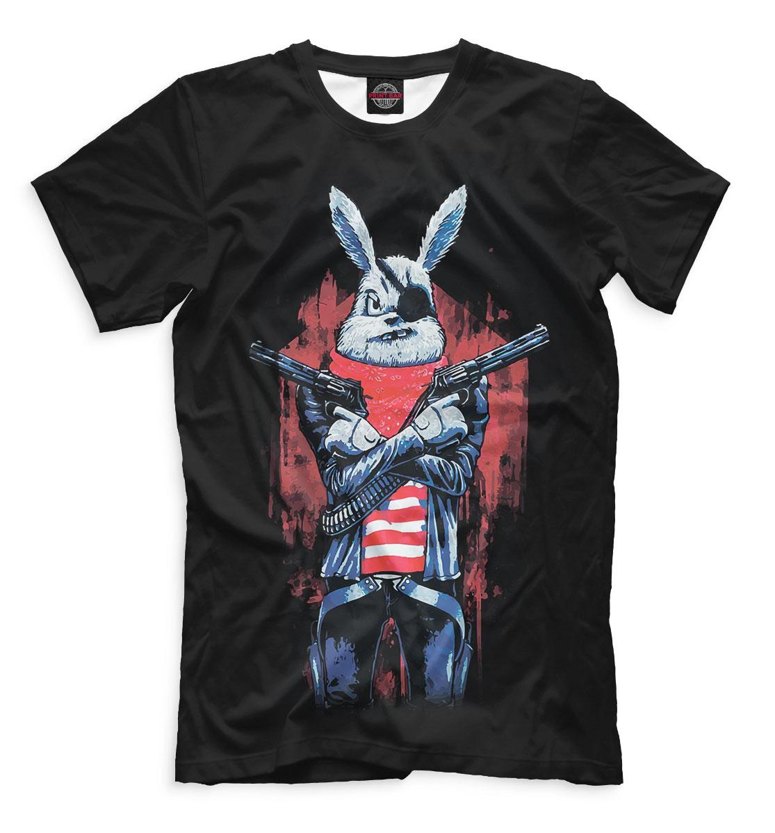 Футболка мужская Кролик с пистолетом