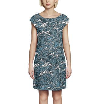 Платье без рукавов  Волны (6256)