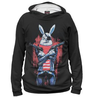 Худи мужское Кролик с пистолетом