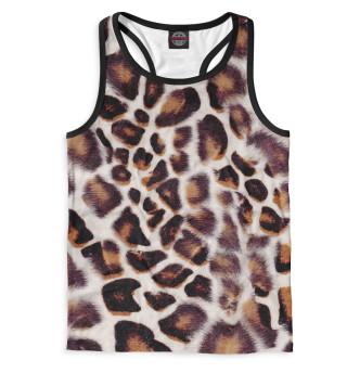 Майка борцовка мужская Дымчатый леопард