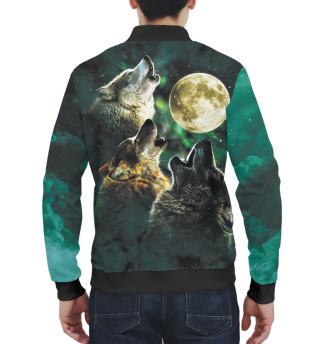 Бомбер мужский Волки (9164)
