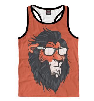 Майка борцовка мужская Hipster Lion
