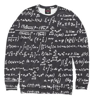 Свитшот  мужской математические формулы