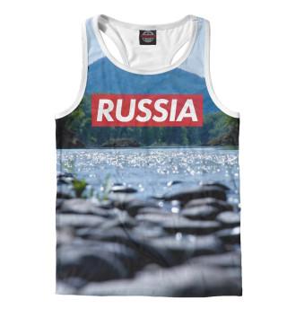 Майка борцовка мужская Russia река