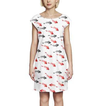 Платье без рукавов  Рыба
