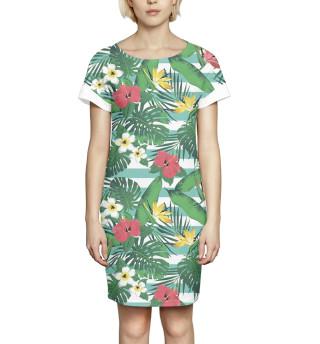 Платье летнее  Цветы и листья