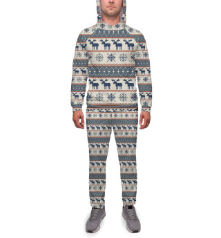 Спортивный костюм  мужской Новогодний орнамент