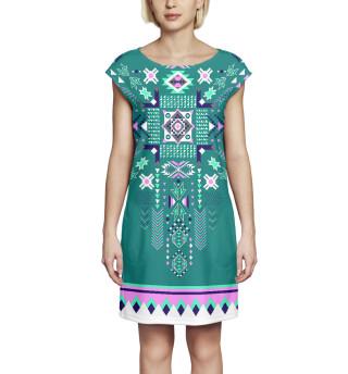 Платье без рукавов  Абстракция (7063)