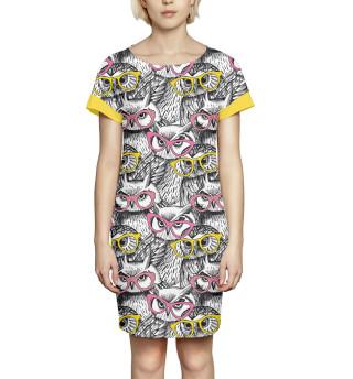 Платье летнее  Совы