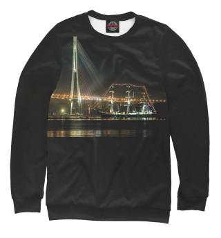 Свитшот  мужской Владивосток. Русский мост (9938)