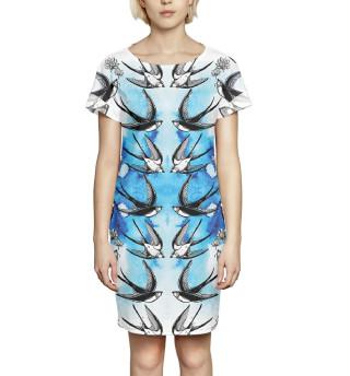 Платье летнее  Ласточки